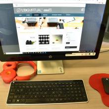 Página de Formación Integral vista desde una computadora